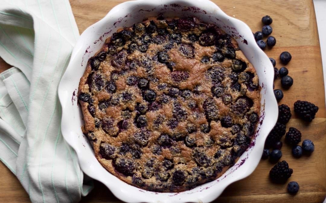 meet your new favorite dessert — hello, berry clafoutis