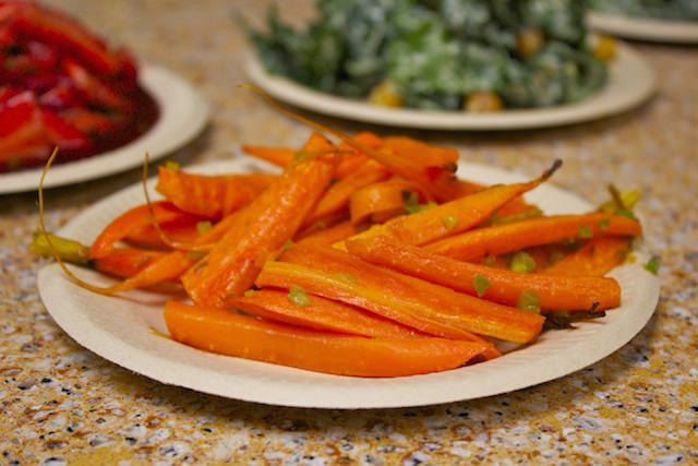 spring carrots with coriander