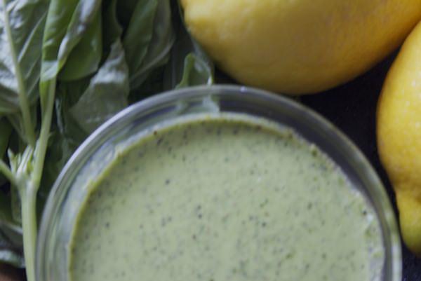 summer fresh basil pesto