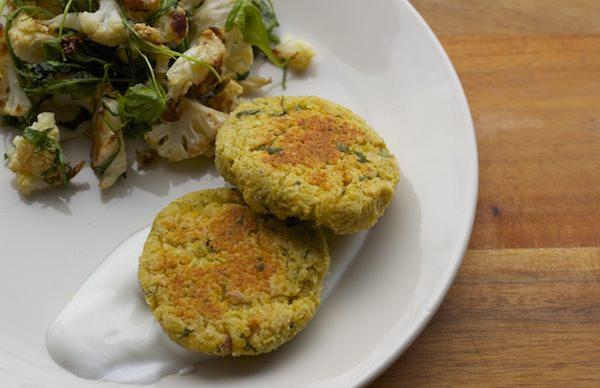 baked chickpea falafel