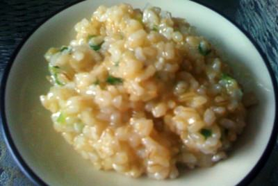 brown rice risotto – in under 9 minutes